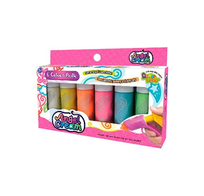 Всё для лепки Angel Cream Набор для рисования пластилином Цвета 6 цветов всё для лепки lori набор для рисования пластилином пирамидка объёмная картина