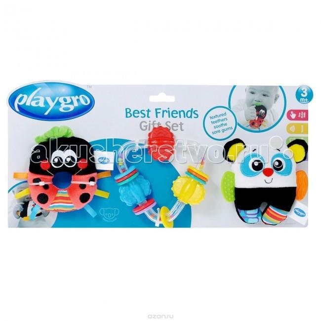 Погремушки Playgro Игровой набор (3 погремушки) 0182431 playgro книжка прорезыватель зоопарк 170173