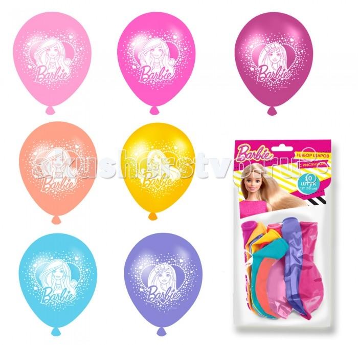 Товары для праздника Olala Набор шаров с рисунком Barbie товары для праздника olala пакет для подарков барби
