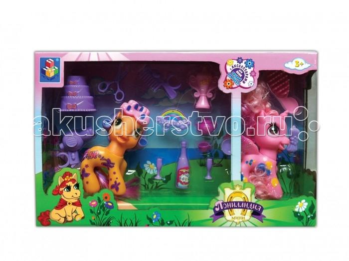 Игровые наборы 1 Toy Пониландия Набор из 2 Пони 10 см с аксессуарами mymilly с 2 фасадами 90 см пони