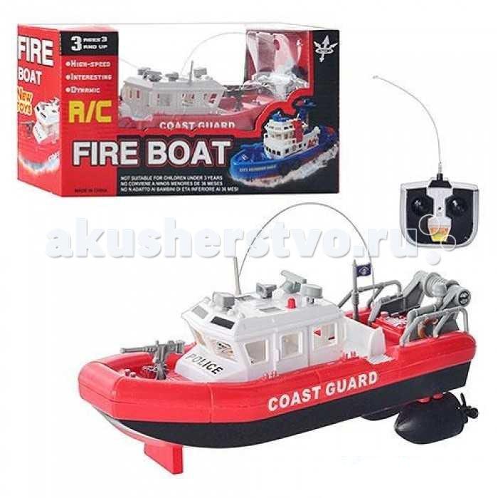 Машины 1 Toy Пожарный катер на радиоуправлении Coast Guard 25 см машины 1 toy лодка парусная на радиоуправлении 39 см