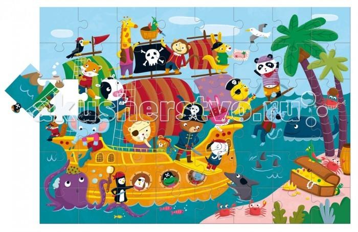 Ludattica Пазл гигантский Пиратский корабль (48 элементов)