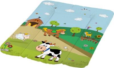 OKT Накладка для пеленания Disney Веселая ферма 70х50Накладка для пеленания Disney Веселая ферма 70х50OKT Накладка для пеленания Disney Веселая ферма 70х50  Матрасик для пеленания с любимыми Диснеевскими персонажами. Мягкий и легко моющийся. Покрыт водонепроницаемой высококачественной пленкой.   Можно разместить его на пеленальном столике, комоде или любой другой достаточно просторной горизонтальной поверхности. Удачное решение для смены подгузников.   Для безопасности малыша матрас снабжен с 3-х сторон валиками-фиксаторами.  Размеры: 70 x 50 x 5 см.<br>