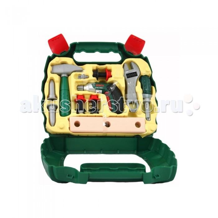 Ролевые игры Klein Набор игрушечных инструментов в чемодане Bosch набор инструментов 46шт great wall 405046 в чемодане