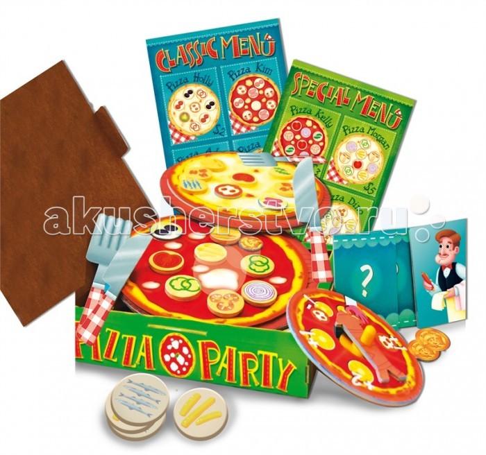 Ludattica Игра настольная Пиццерия 47062Игра настольная Пиццерия 47062Ludattica Игра настольная Пиццерия 47062 малыши могут попробовать свои силы в захватывающем соревновании по приготовлению пиццы.   В наборе: 2 основы для пиццы, 30 продуктовых ингредиентов, 6 карт вызов, 3 Ролевые карточки, 2 меню, меню Заказ столиков, 16 монет, 2 вилки, 2 ножа, 2 тарелки, 2 носовых платка, коробка для пиццы на вынос, 20 специальных деревянных ингредиентов.   Ваш малыш, может выбрать одну из трех ролей: роль повара, готовящего самую вкусную пиццу, роль официанта- придется накрывать на стол и выполнять все запросы посетителя и роль клиента, который заказал пиццу и научиться оплачивать счет монетами.  Игра стимулирует развитие творческого мышления, воображения и мелкой моторики.<br>