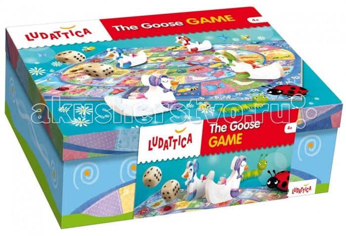 Ludattica Игра настольная Веселые гуси 52387Игра настольная Веселые гуси 52387Ludattica Игра настольная Веселые гуси 52387. Настольная игра, в которой веселые гуси обгоняют друг друга по пути к заветной цели - игровому полю с числом 63.  Игра способствует активной коммуникации детей, развивает логическое мышление и мануальные навыки.  Состав набора: большая иллюстрированная игровая доска, 6 деревянных фигурок гусей, 2 игральных кубика.  Продукт разработан в Италии, в Центре Исследований и Разработки Lisciani.  Иллюстратор Валентина Беллони (Valentina Belloni)<br>