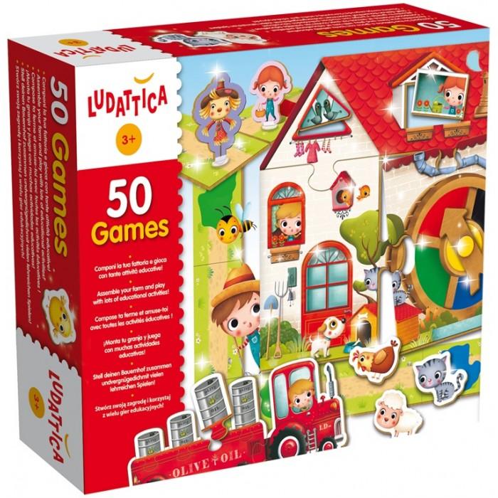 Ludattica Игра настольная 50 игр (50 в 1) 51564Игра настольная 50 игр (50 в 1) 51564Ludattica Игра настольная 50 игр (50 в 1) 51564 море удовольствия в одной коробке.  Набор из 50 игр состоящий из 100 элементов. Пазлы, лото, игры-мемори. Игра знакомит с животными и геометрическими фигурами. Развивает логическое мышление, память, цветовосприятие, мелкую моторику. В комплект входит буклет с правилами.<br>