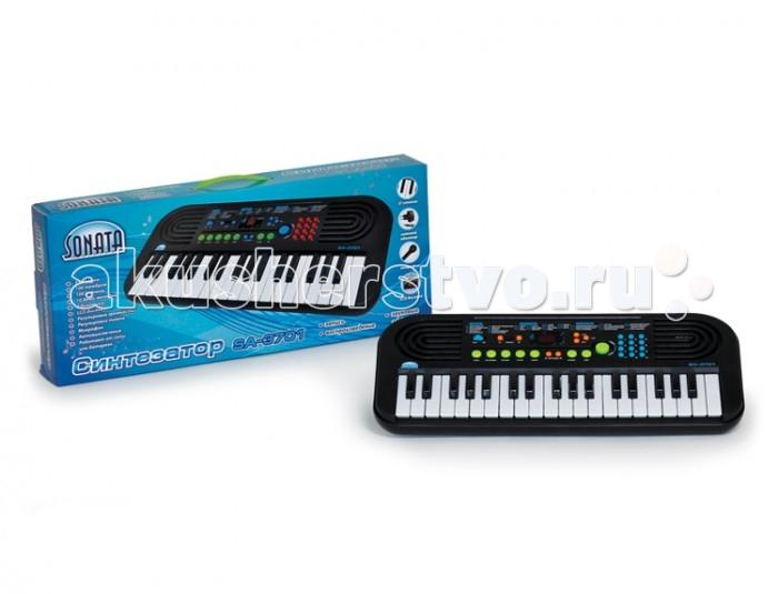 Музыкальные игрушки Sonata Синтезатор руссифицированный SA-3701 музыкальный инструмент детский doremi синтезатор 37 клавиш с дисплеем