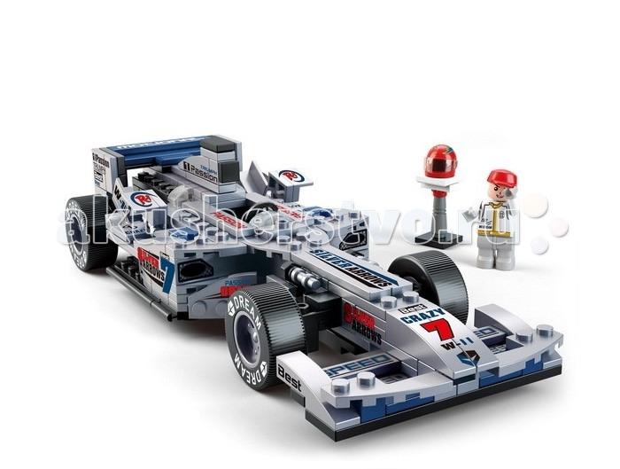Конструкторы Sluban Гоночный автомобиль 257 деталей конструкторы 1 toy формула гоночный джип с турбинами 160 деталей