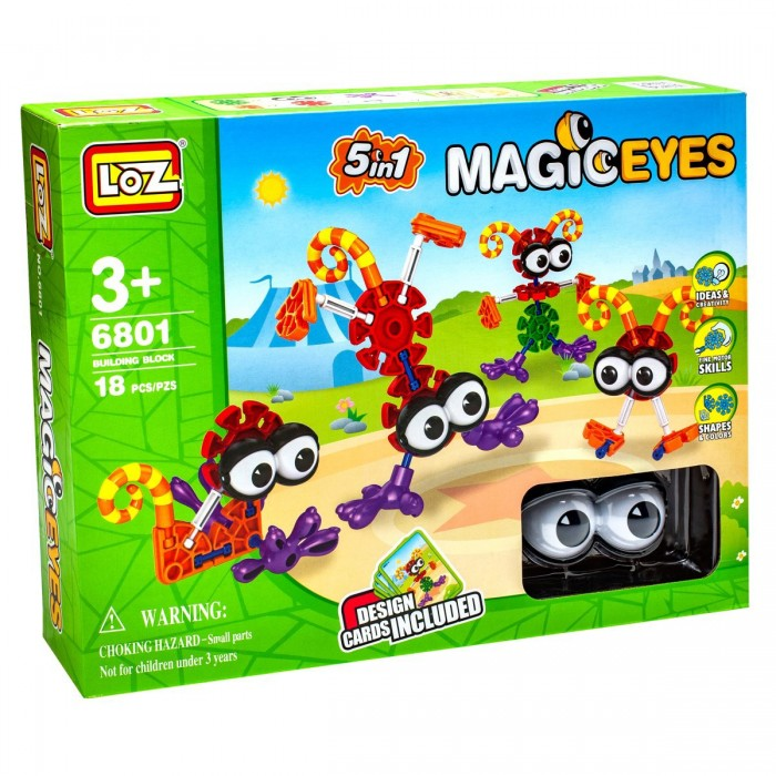 Конструкторы Loz Magic Eyes 18 деталей 2017 oval blue safety plastic eyes toy puppets dolls eyes diy 24 x 18mm 5 pairs 10pcs apr24 17