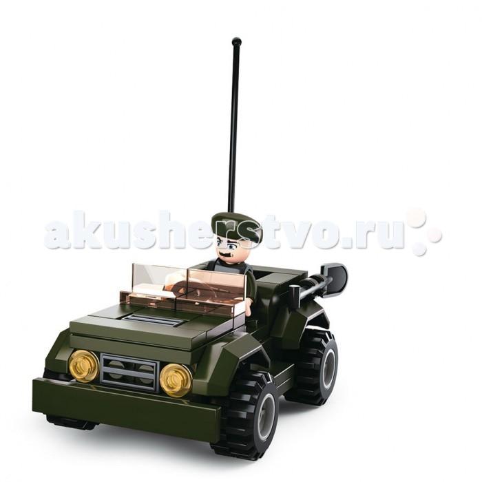 Конструкторы Sluban Армия Джип 82 детали конструктор ausini армия джип с ракетной установкой 197дет