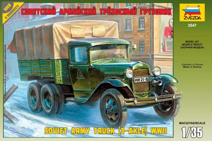 Конструкторы Звезда Советский армейский трехосный грузовик 65 элементов
