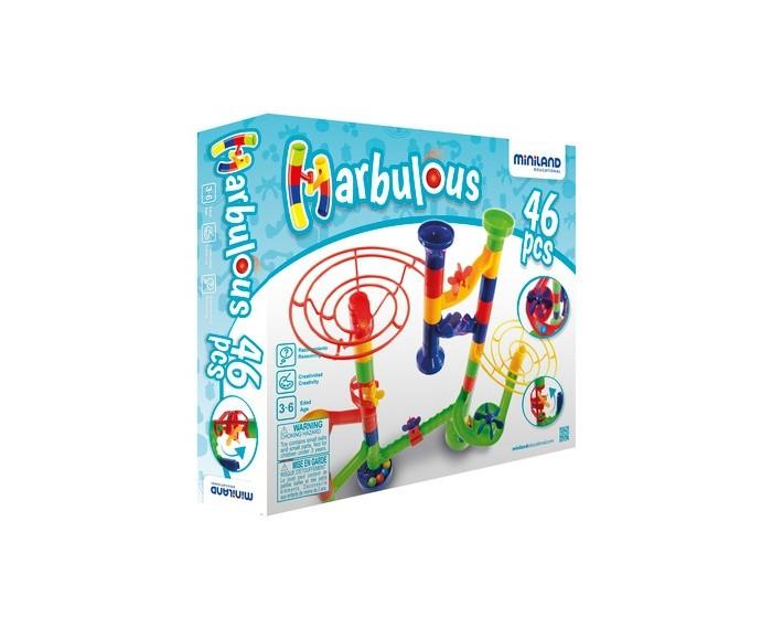 Конструктор Miniland Morbulous (46 деталей)Morbulous (46 деталей)Конструктор Miniland Morbulous (46 деталей). Конструктор-лабиринт Marbulous. Постройте головокружительный лабиринт для шариков. Разнообразие деталей означает, что каждый раз результат будет отличным от предыдущего, а игра будет радовать ее обладателя снова и снова.   Конструктор развивает воображение, творческие способности, пространственное мышление и моторику рук.  В набор входит: 46 элементов - труб, горок, воронок и лопастей.<br>