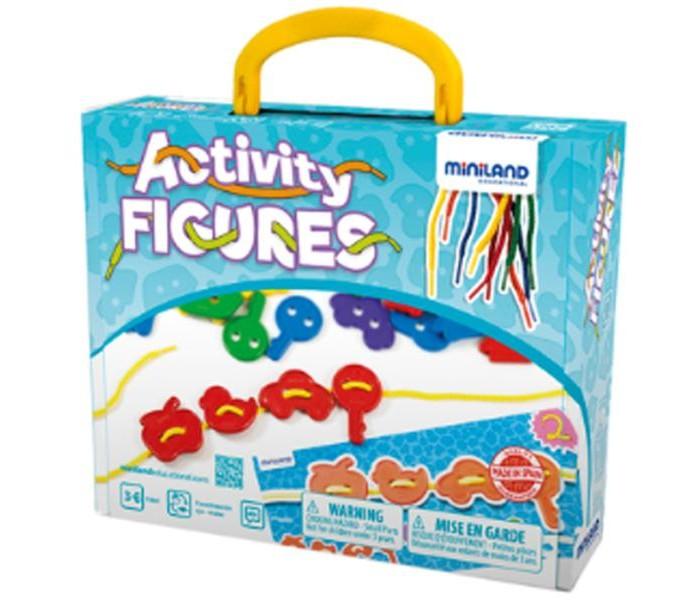 Развивающая игрушка Miniland Обучающий набор для шнурования Ассорти 45302