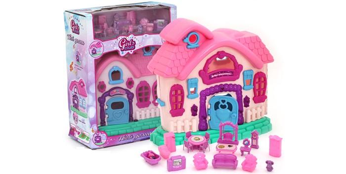 Кукольные домики и мебель Girls Club Домик для кукол с аксессуарами IT100319 (18) кукольные домики lundby кукольная мебель смоланд обеденный уголок розовый
