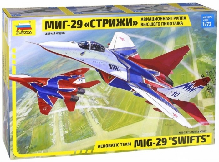 Конструкторы Звезда Самолет МиГ-29 Стрижи 1:72 190 элементов krk systems krk rp5g3w