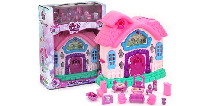 Кукольные домики и мебель Girls Club Домик для кукол с аксессуарами IT100320 (18) кукольные домики lundby кукольная мебель смоланд обеденный уголок розовый