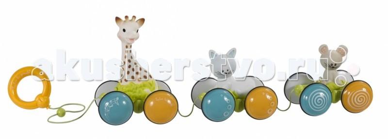 Каталка-игрушка Vulli Жирафик Софи гуляет с друзьями 230758