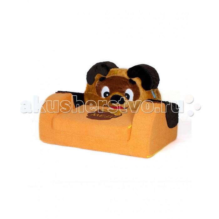 Мягкие кресла Кипрей Детский раскладной диванчик Медведь, Мягкие кресла - артикул:250210