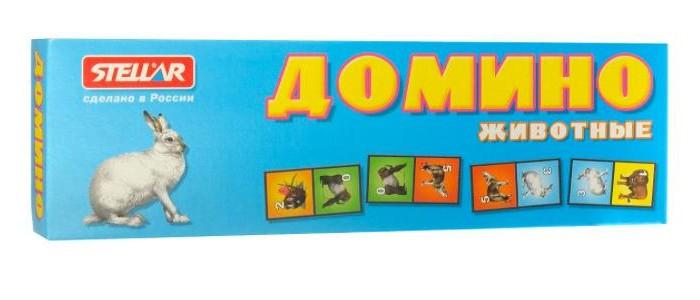 Настольные игры Стеллар Домино № 2 Животные весёлые животные развивающее домино clever
