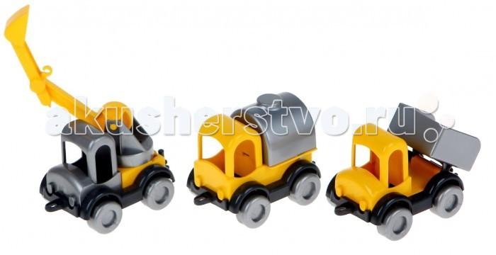Машины Wader Набор машинок Kid Cars Строитель 3 шт.