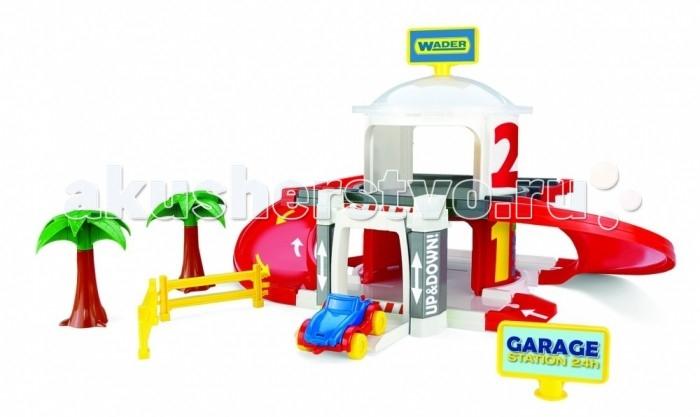 Машины Wader Игровой набор Двухуровневый гараж с лифтом