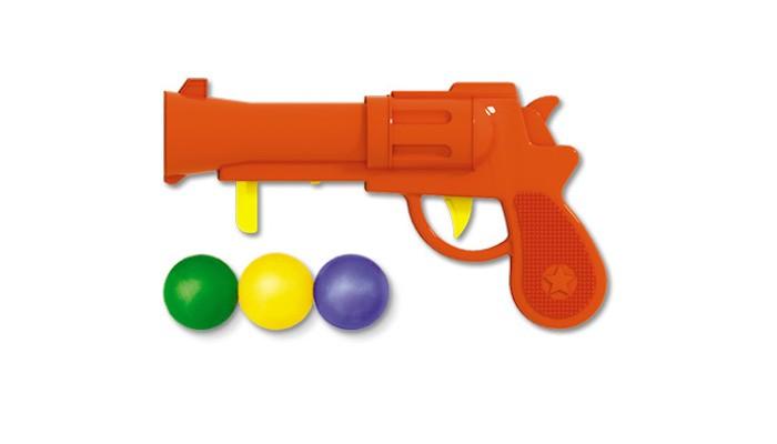 Игрушечное оружие Стеллар Пистолетик пластмассовый с шариками на блистере стеллар погремушка дудочка стеллар