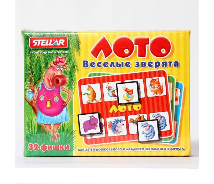 Настольные игры Стеллар Лото Веселые зверята настольные игры djeco игра лото дом