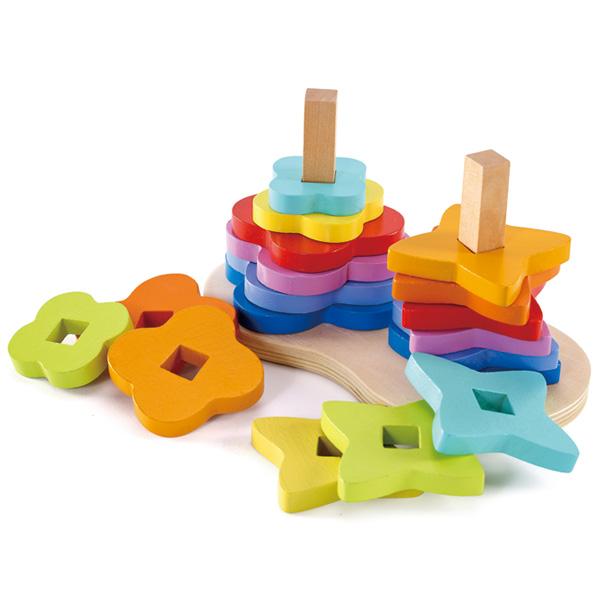 Фото - Деревянные игрушки Hape Конструктор Радуга Е0406 деревянные игрушки hape погремушка радуга