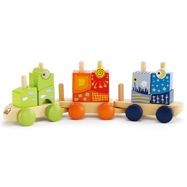 Деревянная игрушка Hape Конструктор Паровозик Е0417Конструктор Паровозик Е0417Паровозик-конструктор с яркими геометрическими фигурами. Малыш может самостоятельно строить вагончики, выбирая понравившиеся цвета. Игрушка способствует развитию моторики, визуальному восприятию, стимулирует воображение, учит различать цвета и формы.  Рекомендован для детей от 2-х лет.  Размер упаковки: 42 х 9 х 18 см Размер игрушки: 40 х 9,5 х 13 см<br>