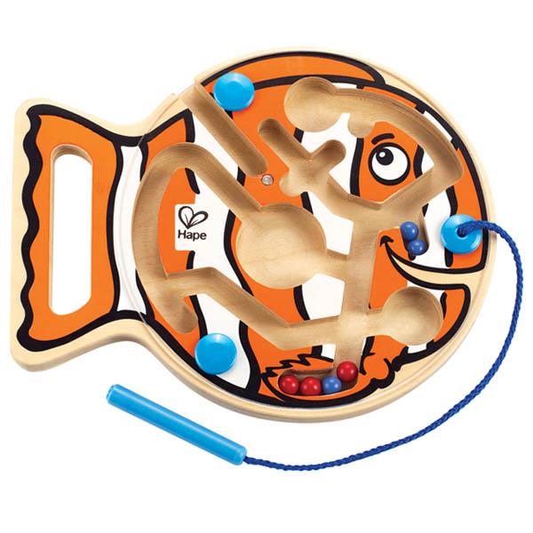 Деревянные игрушки Hape Лабиринт Рыбка Е1700 белоснежка фоторамка комбинированная