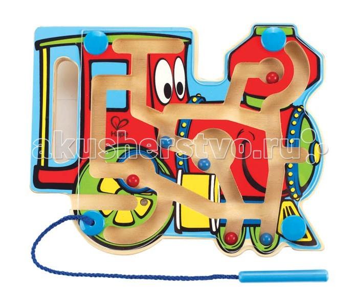 Деревянная игрушка Hape Лабиринт Паровозик Е1701