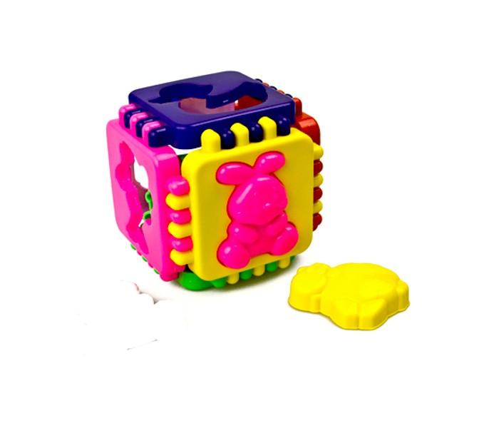 Сортеры Стеллар Логический куб Веселые зверят формочки для песка стеллар