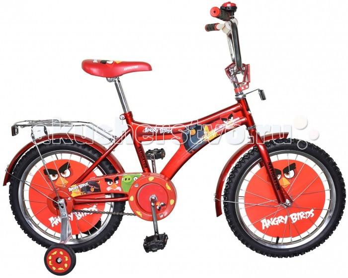 Велосипед двухколесный Navigator Angry Birds AB-1-тип 16Angry Birds AB-1-тип 16Велосипед двухколесный Navigator Angry Birds AB-1-тип 16 подарит радость вашему ребенку.   Особенности:  Однокомпонентный кареточный узел Камеры из натуральной резины Стальные обода Покрышки 16 х 2,125 Задний ножной тормоз Вставки в колесах Щиток на руле со сменными вставками Страховочные колеса с декоративной вставкой Звонок Возраст от 5 до 7 лет<br>