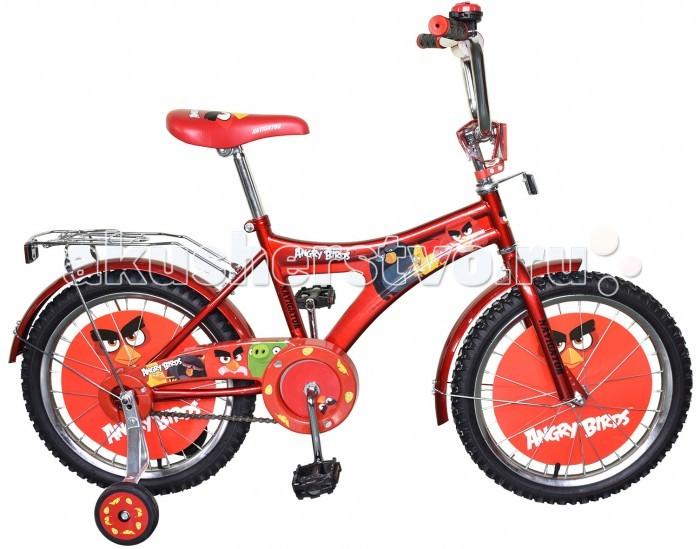 Велосипед двухколесный Navigator Angry Birds AB-1-тип 18Angry Birds AB-1-тип 18Велосипед двухколесный Navigator Angry Birds AB-1-тип 18 подарит радость вашему ребенку.   Особенности:  Однокомпонентный кареточный узел Камеры из натуральной резины Стальные обода Покрышки 18 х 2,125 Задний ножной тормоз Вставки в колесах Щиток на руле со сменными вставками Страховочные колеса с декоративной вставкой Звонок Возраст от 6 до 9 лет<br>