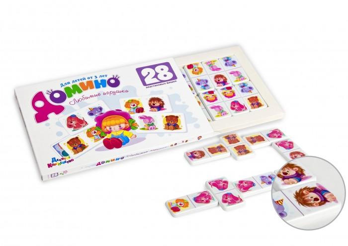 Настольные игры Десятое королевство Домино Любимые игрушки 28 фишек игра спортивная десятое королевство 00628 домино мои игрушки