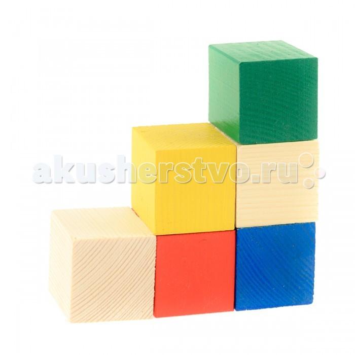 деревянные игрушки анданте кубики пазл транспорт Деревянные игрушки Анданте Набор деревянных кубиков 6 шт.