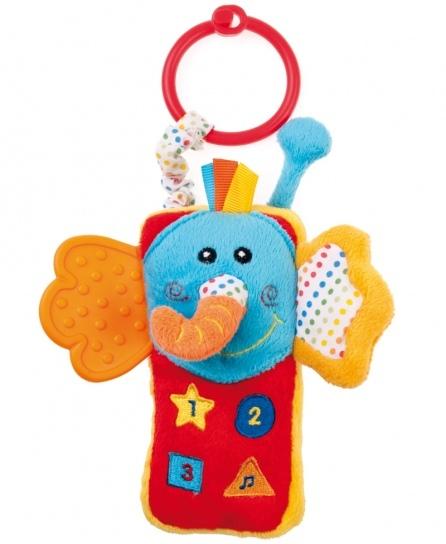 Подвесные игрушки Canpol Слоненок-телефон 68/029 подвесные игрушки мир детства мини подвеска слоненок
