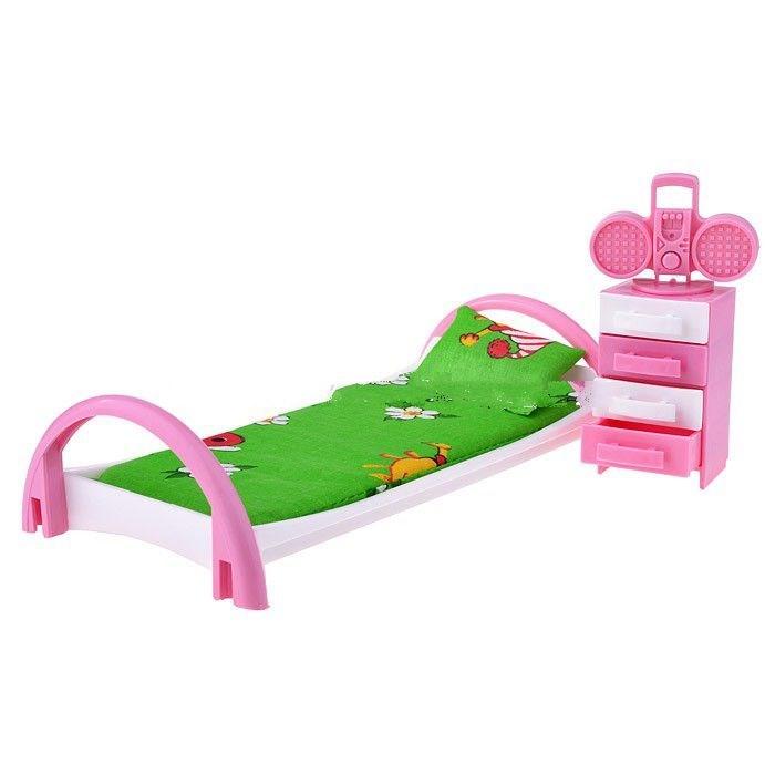 Кукольные домики и мебель Форма Набор мебели Кровать с тумбочкой