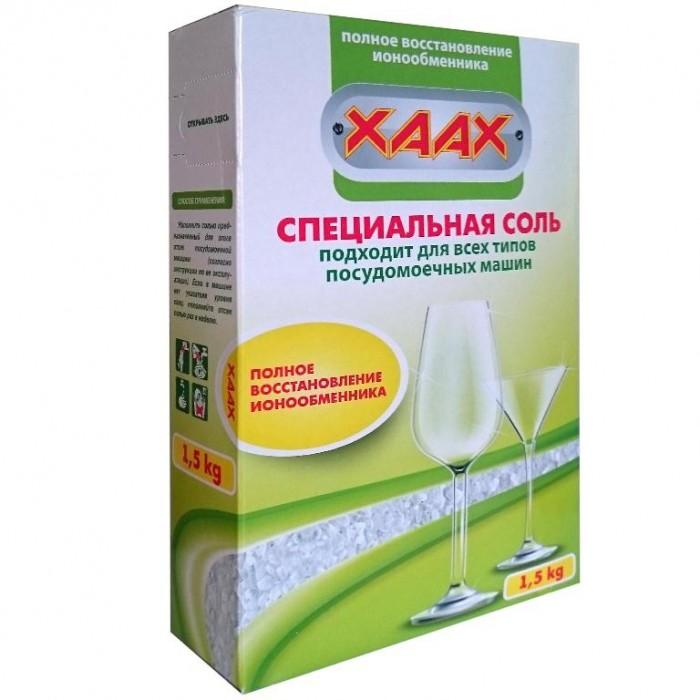 Фото Бытовая химия XAAX Соль для посудомоечной машины 1500 г бытовая химия xaax соль для посудомоечной машины 1500 г