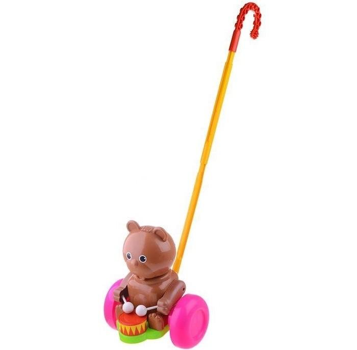 Каталки-игрушки Форма Мишка-барабанщик в сетке каталки игрушки ebulobo мишка