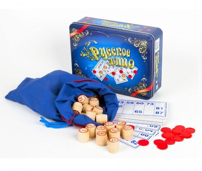 Фото - Настольные игры Десятое королевство Настольная игра Русское лото (синяя жестяная коробка) настольные игры десятое королевство настольная игра русское лото