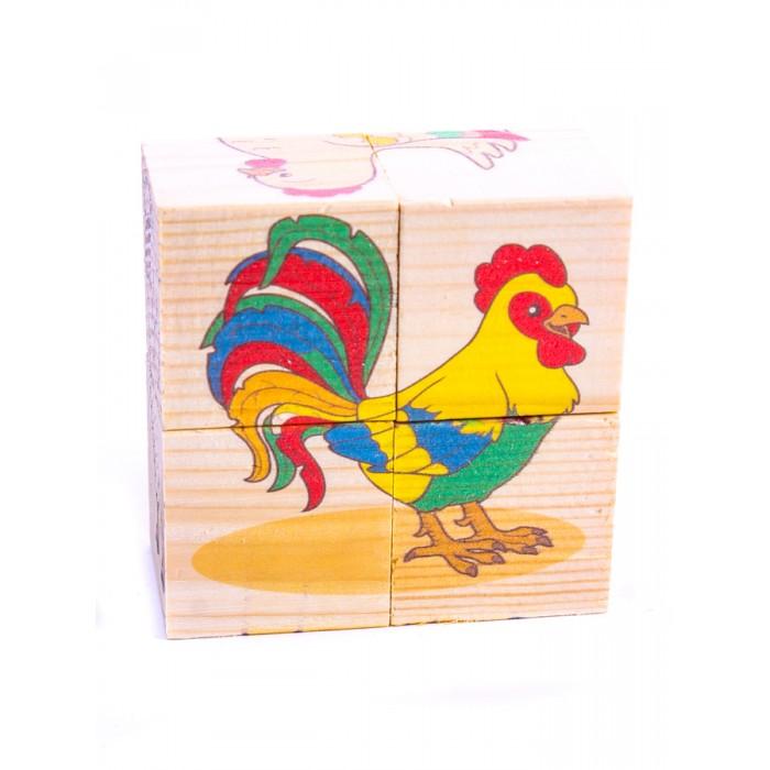 Деревянные игрушки Анданте Кубики-пазл Домашние животные деревянные игрушки анданте кубики пазл транспорт