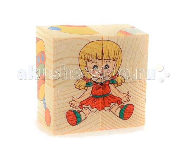 Деревянные игрушки Анданте Кубики-пазл Игрушки деревянные игрушки анданте кубики пазл транспорт