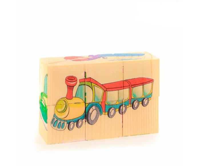 Деревянные игрушки Анданте Кубики-пазл Транспорт двенадцатигранные кубики кости