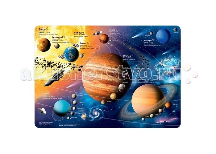 Картинка для Пазлы Геодом Солнечная система Карта-пазл 260 деталей