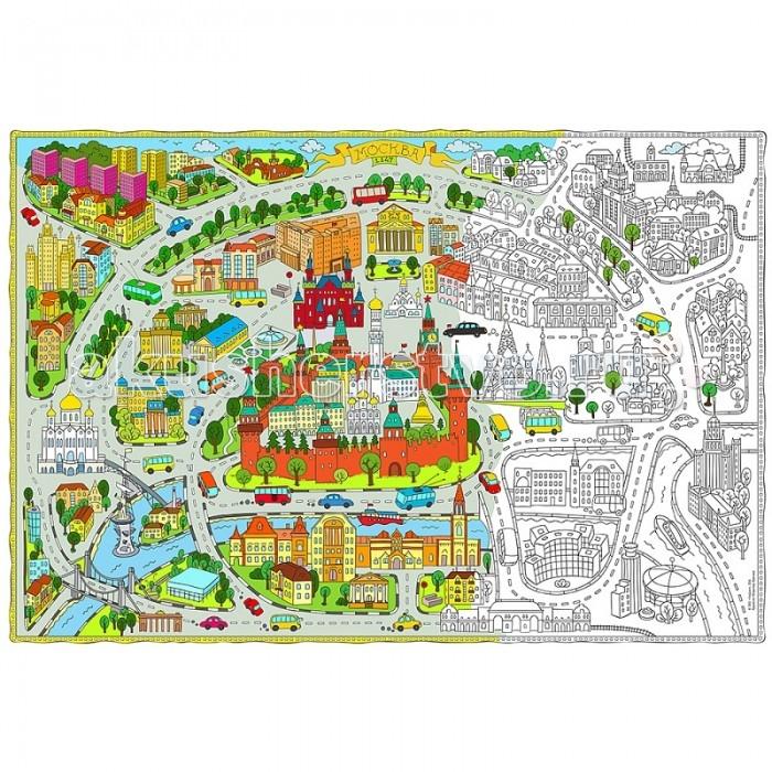 Раскраски Геодом Карта Москва 101х69 см