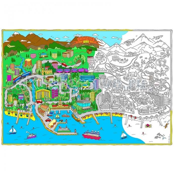 Геодом Карта Сочи 101х69 см куплю квартиру в сочи лазаревском