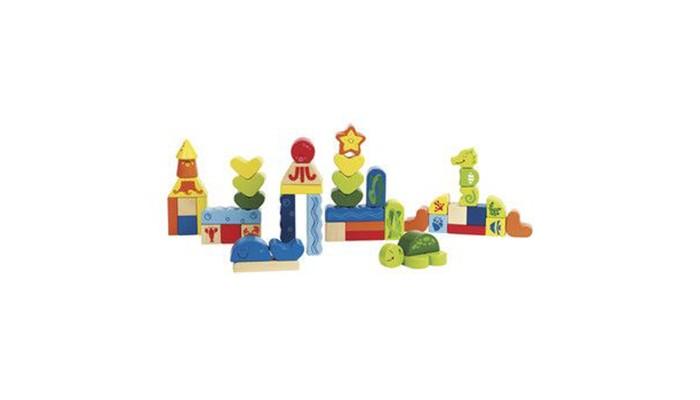 Деревянная игрушка Hape Конструктор Морские животные Е0432Конструктор Морские животные Е0432Забавные персонажи открывают большое пространство для творчества малыша. Способствует развитию логического мышления, воображения, мелкой моторики, координации глаз.  В комплекте 48 кубиков.<br>