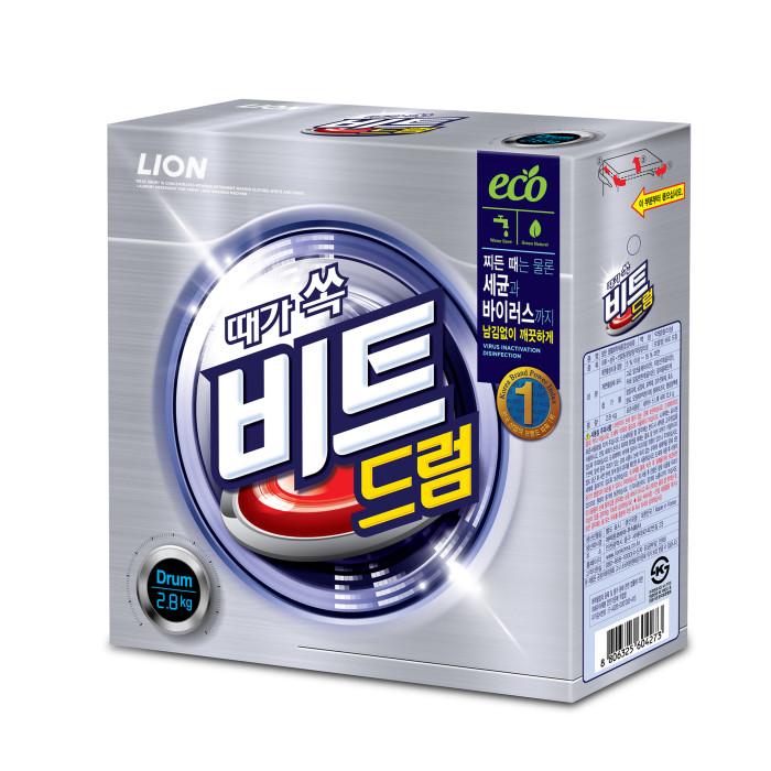 Бытовая химия CJ Lion Стиральный порошок Beat Drum для автоматической стирки коробка 2.8 кг